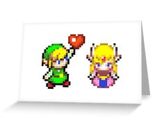 Zelda & Link Greeting Card