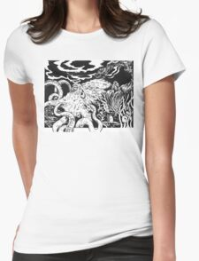 Traveling Octopus and Friends Womens Fitted T-Shirt