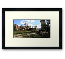 Ruins and Rust Framed Print