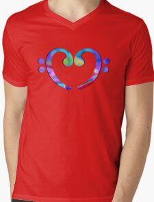 Music Heart  Notes Mens V-Neck T-Shirt