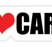 I love cars Sticker