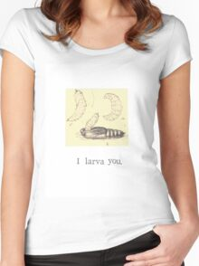 I Larva You Women's Fitted Scoop T-Shirt