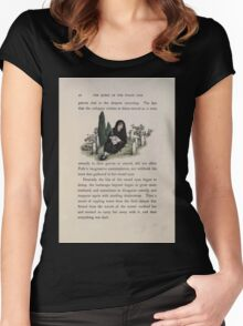 The Queen of Pirate Isle Bret Harte, Edmund Evans, Kate Greenaway 1886 0046 Graveyard Women's Fitted Scoop T-Shirt
