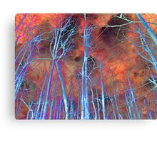 Ice Tree Abstract Canvas Print