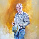 Portrait of Ian - the fly fisher & prospecter by Pieter  Zaadstra