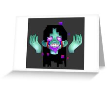 Pixel Punk Greeting Card