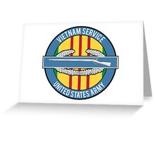 Vietnam Service CIB Greeting Card