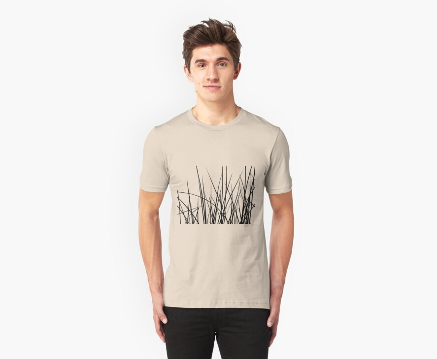 Water grass (black) (T-Shirt) by Lenka