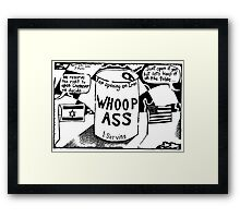 Can of Whoop Ass for Iran Framed Print