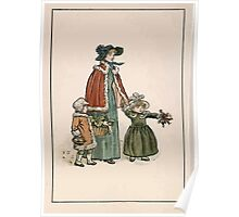 Kate Greenaway Almanack 1893 0032 November Walk Poster