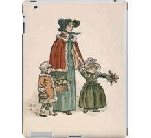 Kate Greenaway Almanack 1893 0032 November Walk iPad Case/Skin