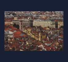 Red Roofs of Europe - Nice, France, French Riviera One Piece - Long Sleeve
