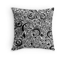 Diamonds and Crescents  Throw Pillow