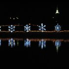 Snowflakes on Pond by broerse1