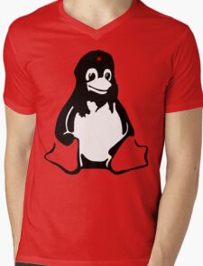 Linux tux Penguin Che  Mens V-Neck T-Shirt