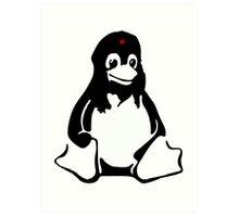 Linux tux Penguin Che  Art Print