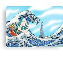 Zelda: WindWaker - Great Wave Canvas Print