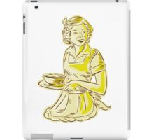 Homemaker Serving Bowl of Food Vintage Etching iPad Case/Skin