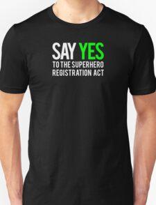Civil War - Say Yes - White Clean T-Shirt