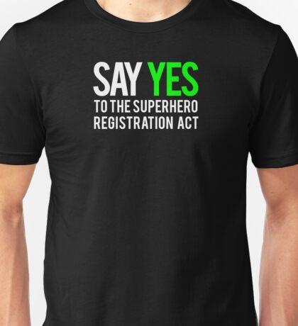 Civil War - Say Yes - White Clean Unisex T-Shirt