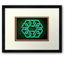 ©The Logo HEX IA 2D. Framed Print