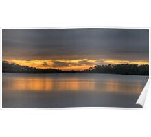 Panoramic Dawn - Narrabeen Lakes - The HDR Experience Poster