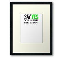 Civil Way - Say Yes - Black Clean Framed Print