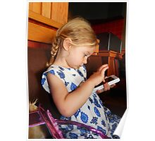 Little Girl with Phone Time Poster