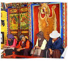 Tibetan old womens  Poster