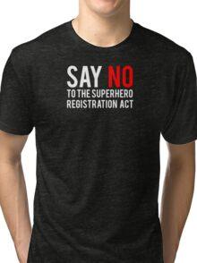 Civil War - Say No - White Clean Tri-blend T-Shirt