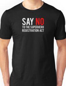 Civil War - Say No - White Clean Unisex T-Shirt