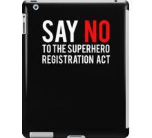 Civil War - Say No - White Clean iPad Case/Skin