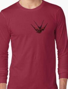 Red Swallow Tattoo Long Sleeve T-Shirt