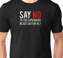 Civil War - Say No - White Dirty Unisex T-Shirt