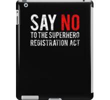 Civil War - Say No - White Dirty iPad Case/Skin