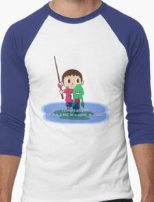 Fishing for Ink Men's Baseball ¾ T-Shirt