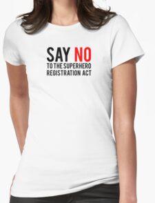Civil War - Say No - Black Clean Womens Fitted T-Shirt