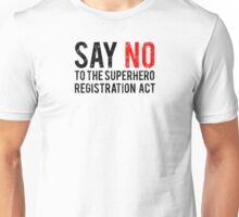 Civil War - Say No - Black Dirty Unisex T-Shirt