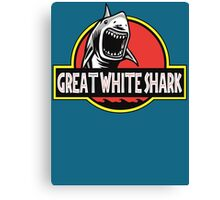 Great White Shark Jurassic Parody T Shirt Canvas Print