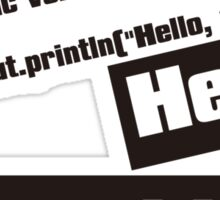 Hello, World! Sticker