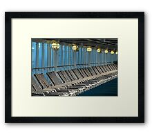 Parallel Parking - Deck Chairs Framed Print