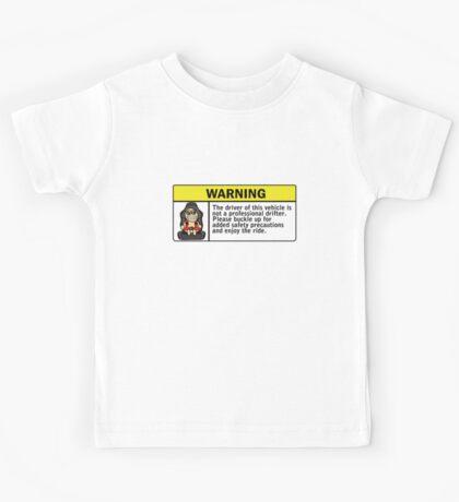 Warning - not a professional drifter Kids Tee