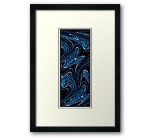 Liquid Blue no.1 - Luminosity series Framed Print