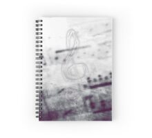 Music! Treble clef with Grunge Vintage Texture - DJ Retro Music Art Prints - iPhone and iPad Cases Spiral Notebook