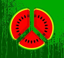 Watermelon Peace by piedaydesigns