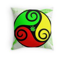 Reggae Love Vibes - Cool Weed Pot Reggae Rasta - Pouch T-Shirts and more Throw Pillow