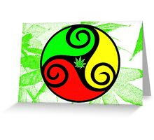 Reggae Love Vibes - Cool Weed Pot Reggae Rasta - Pouch T-Shirts and more Greeting Card
