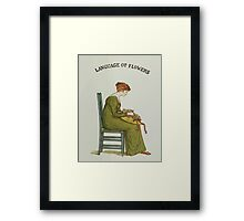 Language of Flowers Kate Greenaway 1884 0005 Title Plate 2 Framed Print