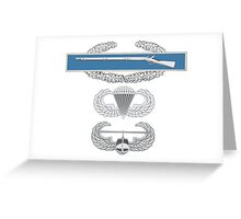 CIB Airborne and Air Assault Greeting Card