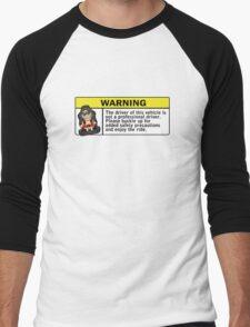 Warning - not a professional driver Men's Baseball ¾ T-Shirt